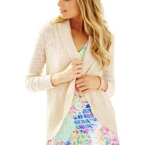 Lilly PUlitzer Brookside  Cardigan Sand Dune M